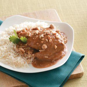 Slow-Cooked Thai Peanut Chicken