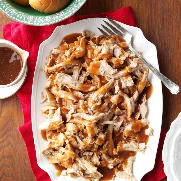 Slow-Cooked Turkey Breasts with Cranberry Sauce