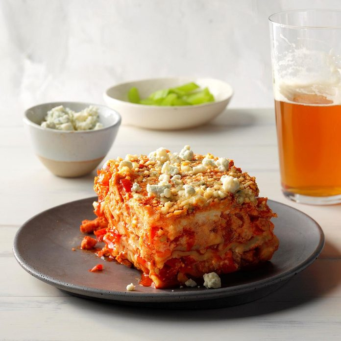 Day 6: Slow-Cooker Buffalo Chicken Lasagna