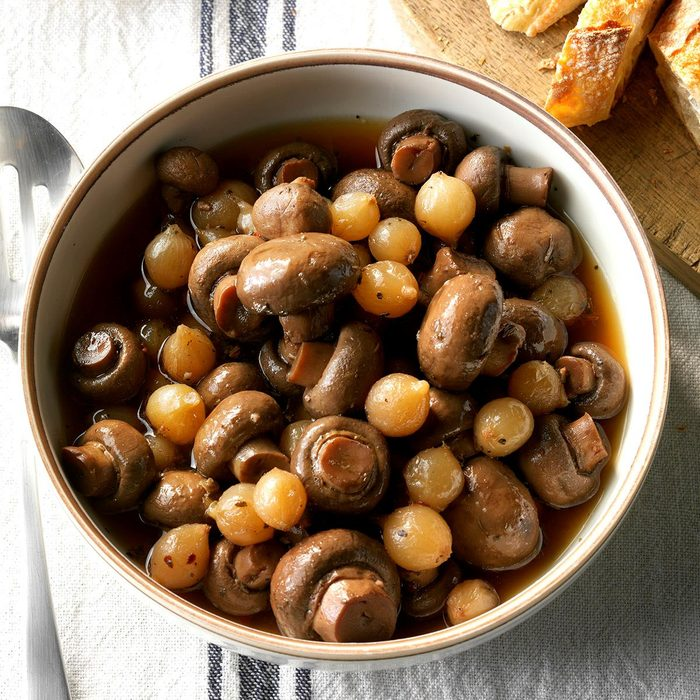 Slow-Cooker Marinated Mushrooms
