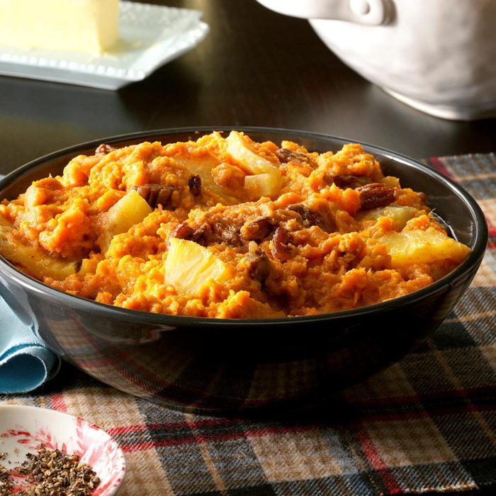 Sides: Slow Cooker Pineapple Sweet Potatoes
