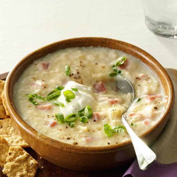 Slow-Cooker Potato & Ham Soup
