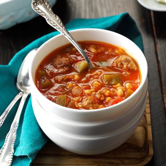 Slow-Cooker Stuffed Pepper Soup