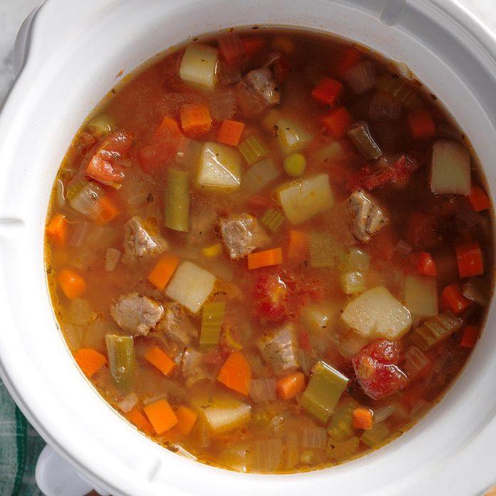 61: Slow Cooker Vegetable Soup