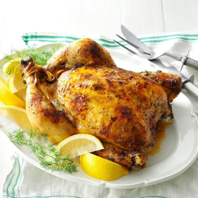Inspired by: Cheesecake Factory Lemon-Herb Roasted Chicken