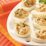 Smokin' Hot Deviled Eggs