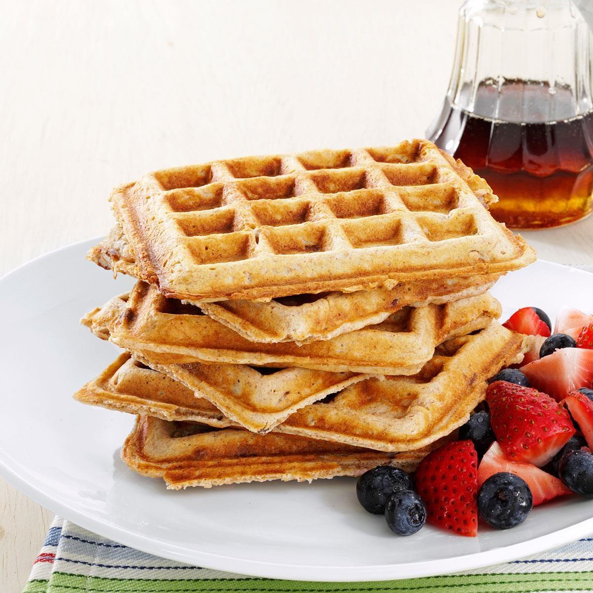 Soul satisfying oatmeal waffles