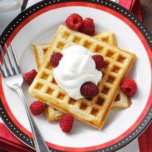 Sour Cream Cardamom Waffles
