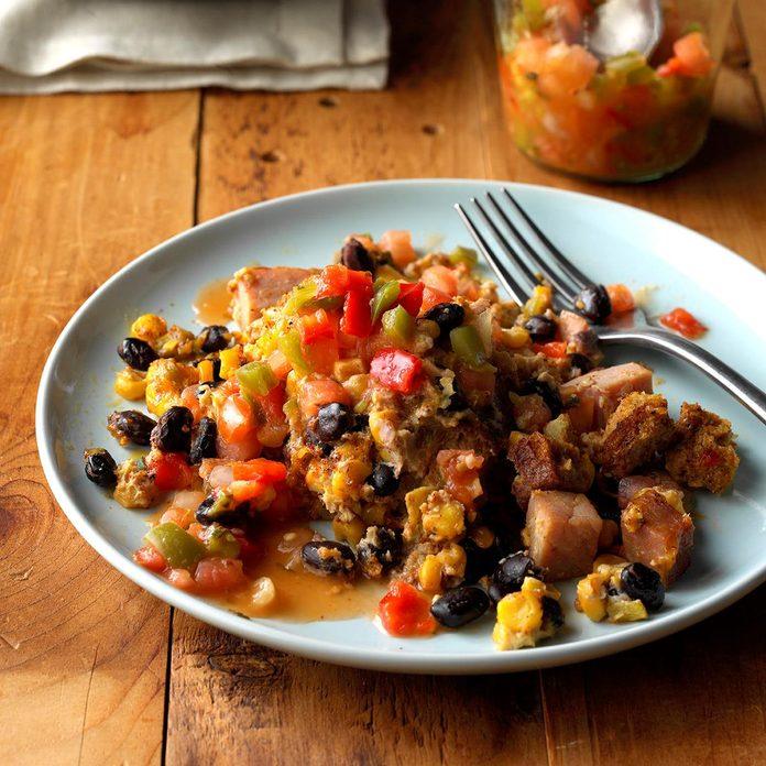 Southwestern Breakfast Slow-Cooker Casserole