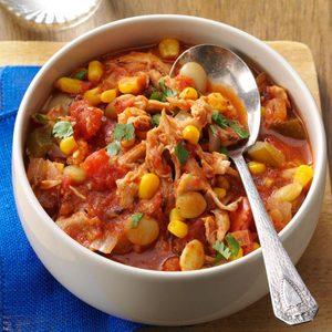 Southwestern Chicken & Lima Bean Stew