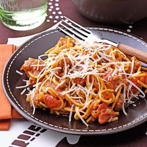 Speedy Stovetop Spaghetti