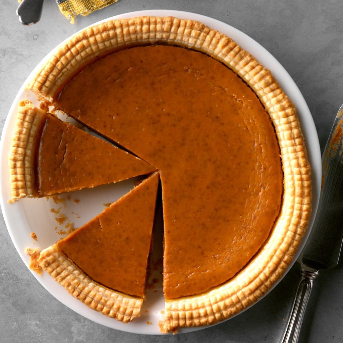 Missouri: Spiced Eggnog Pumpkin Pie