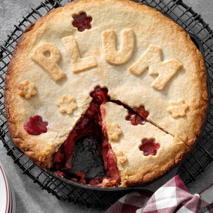 Spiced Plum Pie