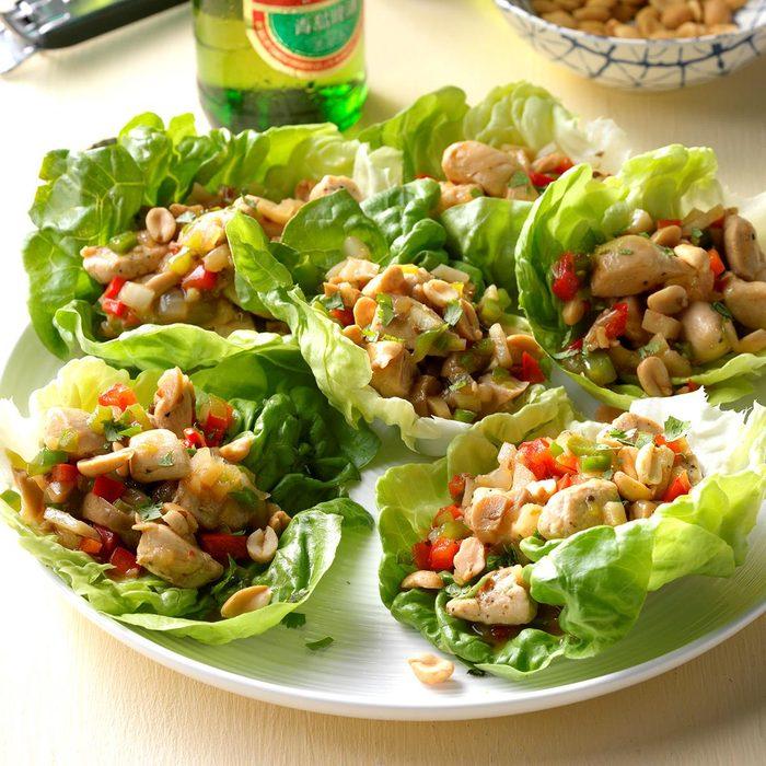 Gewürztraminer: Spicy Chicken Lettuce Wraps