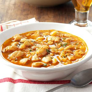 Spicy Chicken and Hominy Soup