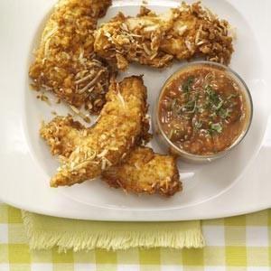 Spicy Coconut Chicken Strips