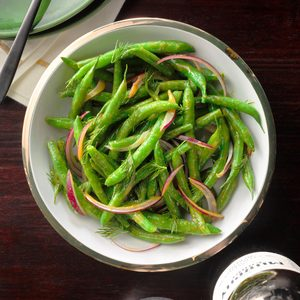 Spicy Honey Mustard Green Beans