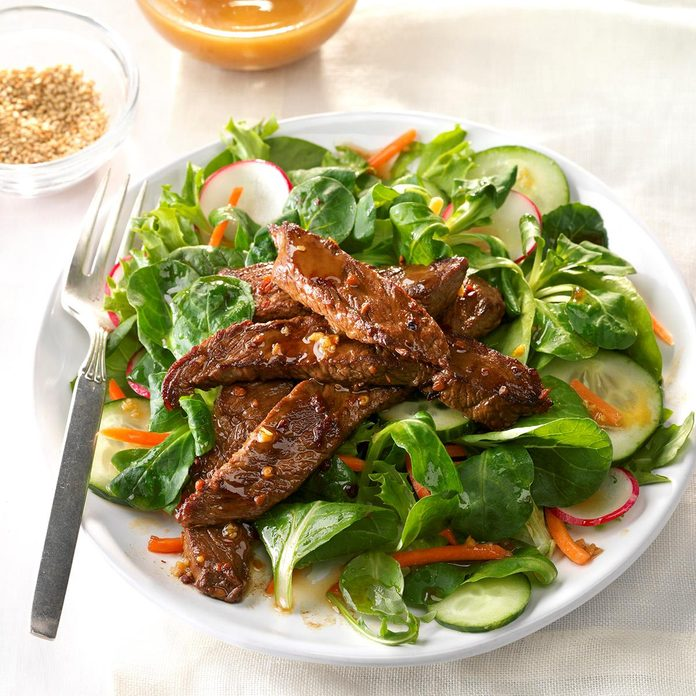 Day 25: Spicy Mongolian Beef Salad