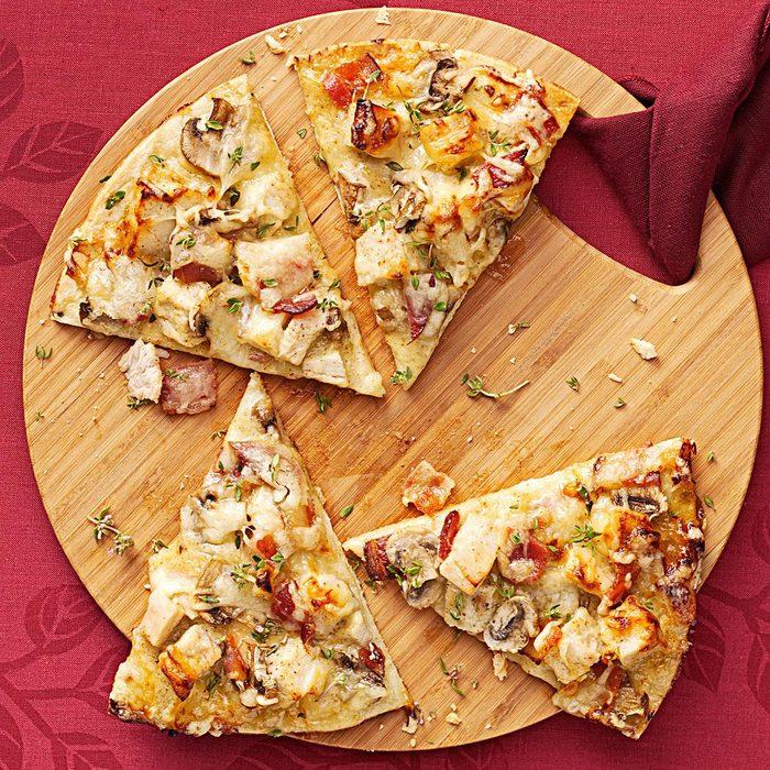 Spicy Mustard Turkey Pizza