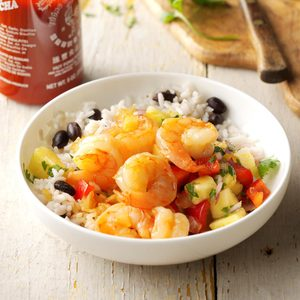 Spicy Sweet Shrimp with Pineapple Salsa