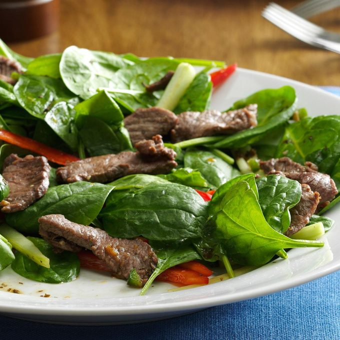 Spinach Beef Salad Exps25569 Sd143203b10 16 5b Rms