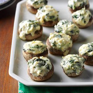 Spinach Dip-Stuffed Mushrooms