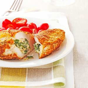 Spinach-Stuffed Chicken Pockets