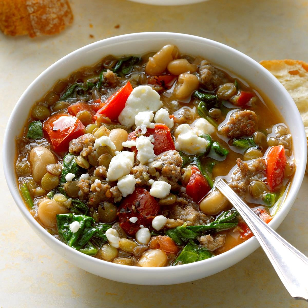 Wednesday: Spinach and Sausage Lentil Soup