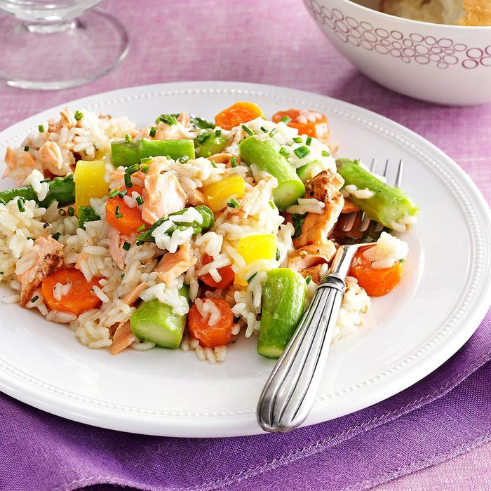 Spring Pilaf With Salmon Asparagus Exps165178 Sd2856494d12 04 7bc Rms 5