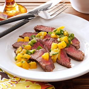 Steak with Citrus Salsa