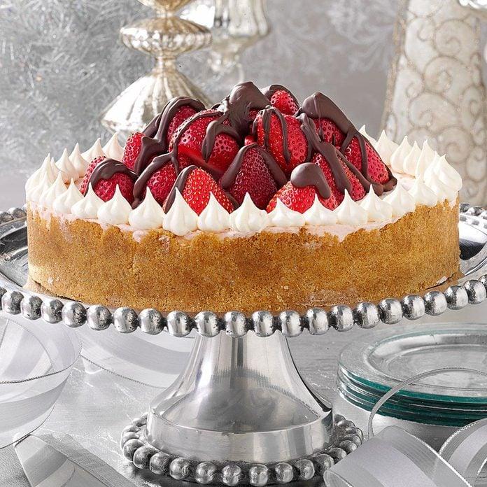 Strawberry Celebration Cheesecake