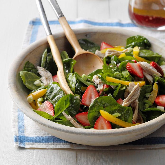 Strawberry-Turkey Spinach Salad