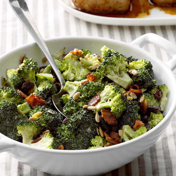 Goes with Beef and Rice Soup: Sunflower Broccoli Salad