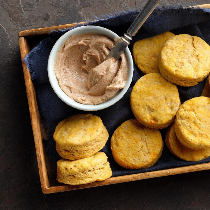 Sweet Potato Biscuits with Honey Butter