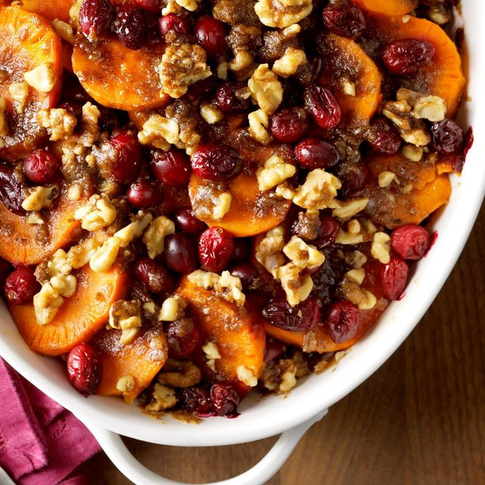 Massachusetts: Sweet Potato Cranberry Bake