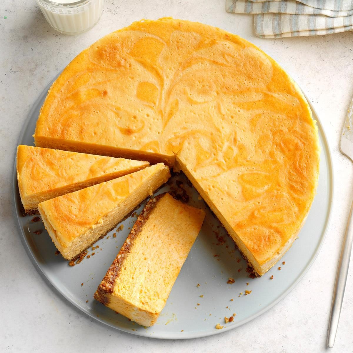Connecticut: Sweet Potato & Marshmallow Swirl Cheesecake