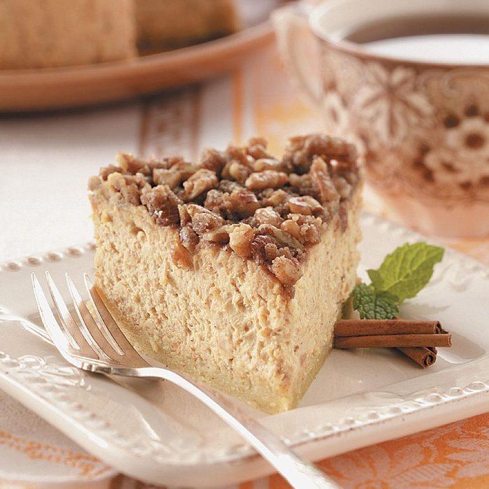 Sweet Potato Pecan Cheesecake