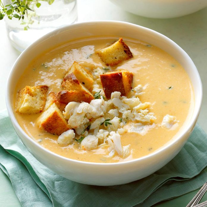 Sweet Potato and Crab Soup