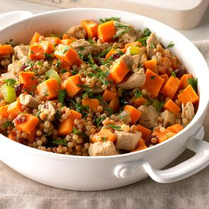 Sweet Potato and Turkey Couscous