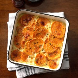 Sweet Potatoes au Gratin