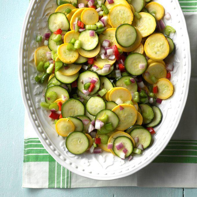 Sweet & Sour Squash Salad