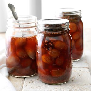 Sweet & Spicy Pickled Red Seedless Grapes