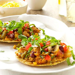 Tangy Turkey Tostadas