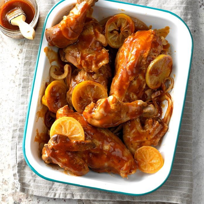 Tender Barbecued Chicken