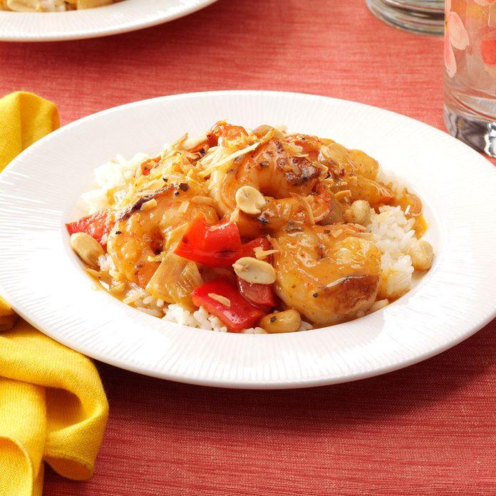 Thai Curry with Shrimp & Coconut