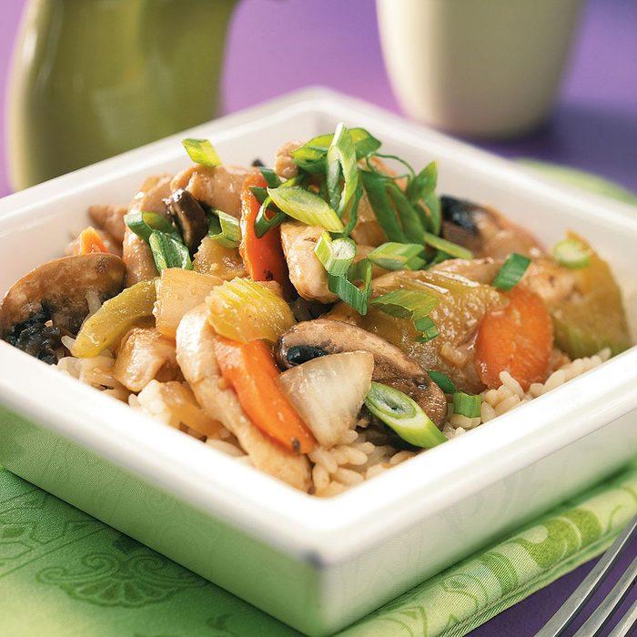 Thai Portobello Chicken Stir-Fry