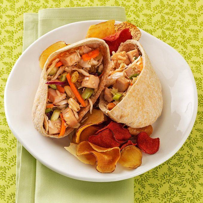 Thai Turkey Salad Pitas