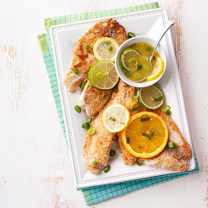 Tilapia with Citrus Sauce