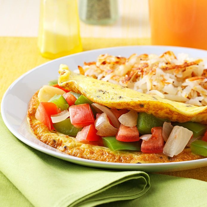 Inspired by: Dennys' Loaded Veggie Omelette