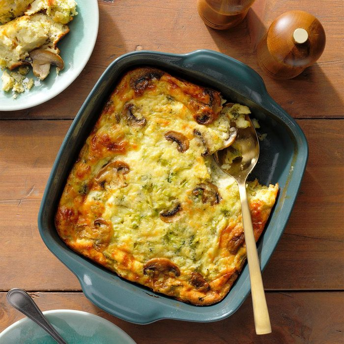 Triple-Cheese Broccoli Puff